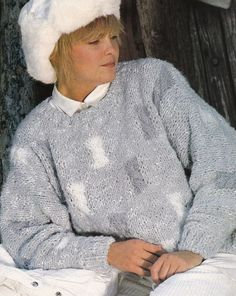 Vintage Knitting Pattern Instructions to Make Ladies Jumper (32-40)  Bust
