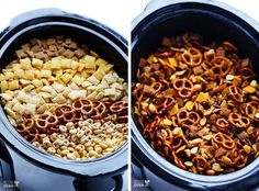 Slow Cooker Chex Mix...didn't realize you could make this is a Crock Pot!!