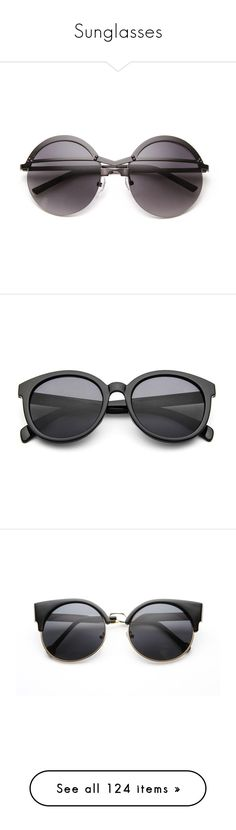 """""""Sunglasses"""" by intanology ❤ liked on Polyvore featuring accessories, eyewear, sunglasses, circle sunglasses, summer sunglasses, round sunglasses, black circle sunglasses, circular sunglasses, glasses and lucluc"""