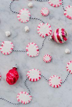 DIY Peppermint Christmas Garland