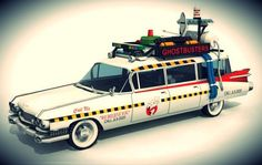 Ghostbusters - Cadillac Ecto 1A Paper Model - by Paper Replika