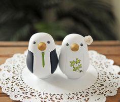 Custom Wedding Cake Topper - Medium Love Bird Cake Topper via Etsy
