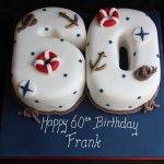 Nautical 60th Birthday Cake