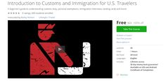 Introduction to Customs and Immigration for U.S. Travelers udemy 100% off coupon code