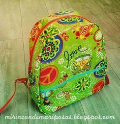 mi rincón de mariposas: Una mochila de hule - tutorial