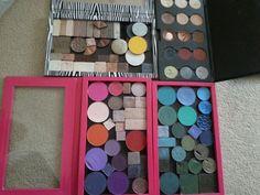 #Organised makeup #z pallet #pink #zebra print #make up kit