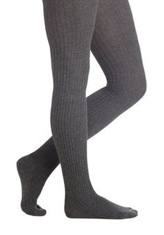 Cover Your Basics Tights in Grey 19.99, #ModCloth