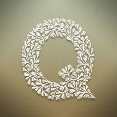 Exquisite. {Botanical Alphabet by Seth Mach, via Behance}