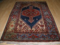 £55 213x135UNIQUE PERSIAN DESIGN PRAYER CARPET / RUG IN STRONG TRIBAL VILLAGE DESIGN | eBay