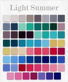 Soft Summer Colour Palette, my colours.