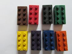 Set of 8  Lego Brick Crayons  Lego Crayons by StitchnNibblercrafts
