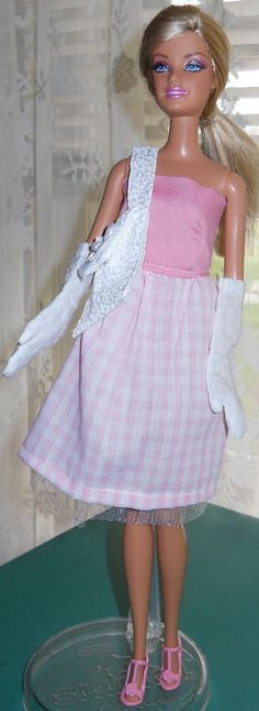 Handmade Barbie cotton strapless dress with by AuntieLousCrafts, $8.50