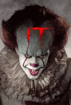 In a small town in Maine, seven children known as The Losers Club come face to face with life problems, bullies and a monster that takes the shape of a clown called Pennywise. Clown Horror, Creepy Clown, Horror Art, Clown Pennywise, Pennywise The Dancing Clown, Pennywise Painting, Best Horror Movies, Scary Movies, Good Movies