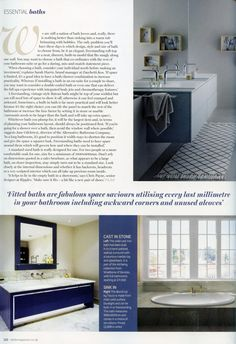A Luxurious bath with built in shelves from Alternative Bathrooms  Essential  Kitchen Bathroom Bedroom March 2016The Oslo shower screen from Alternative Bathrooms features a  . Essential Kitchen And Bathroom Business Magazine. Home Design Ideas