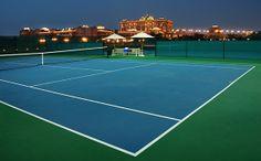 Emirates Palace Hotel tennis courts in Abu Dhabi.