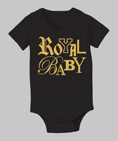 Take a look at this Celebration Station Black 'Royal Baby' Bodysuit - Infant on zulily today!