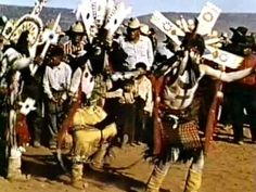 Apache Indian Crown Dancers. The picture is a bit blurry but still conveys a lot.