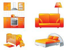 Furniture Graphics Set vector free