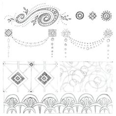 It's always a treat when I'm offered the chance to create art in a style I've never done before. These are some of the sketches I recently did for a 1920's/Great Gatsby-themed wedding invitation with a modern twist. Pencil, sketch, art, modern, geometric, pattern, jewelry, great gatsby, 1920s.