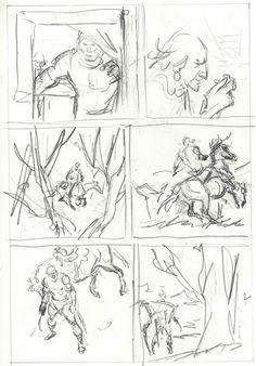 John Buscema - Conan preliminary pencil Comic Art