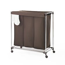Triple Laundry Sorter With Lid Chocolate Laundry Sorter