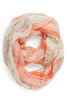 You can never have too many light and breezy paisley print infinity scarves.