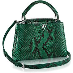 Capucines BB Python ($9,850) ❤ liked on Polyvore featuring bags, handbags, snake print purse, snakeskin print purse, python print handbag, leather bags and python purse