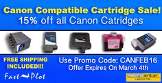 15% off all Canon cartridges!