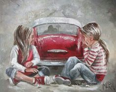 Maria M Oosthuizen. Stella Art, South African Artists, Painting People, Art Graphique, Illustrations, Art Sketches, Amazing Art, Art For Kids, Cool Art