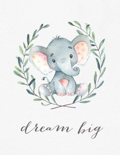 Watercolor Safari Nursery Art Safari Animal by ColorLovePrintCo