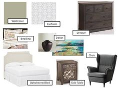 Guest Bedroom Design Board I An Uncommon Fraase