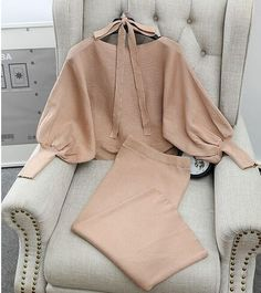 Graceful Women Loose Sweaters Skirts Outfits Solid Batwing Sleeve Costumes Female Woman Knitted Sweater Tops Skirt 2PCS Sets