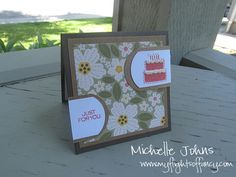 mini 3x3 card with the mayberry papers!