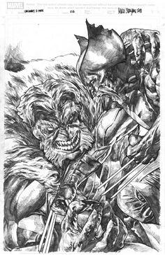 Uncanny X-Men 213 Cover Recreation by Mico Suayan Comic Art