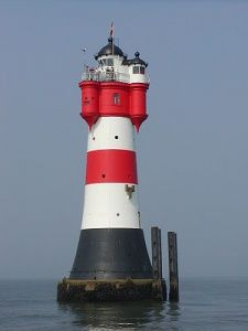 Fancy staying somewhere unusual on your trip to Germany? You can spend the night at the Roter Sand lighthouse, near the island Wangerooge, northern Germany. Water Pictures, Water Pics, Lighthouse Lighting, Lighthouse Pictures, Water Tower, Belle Photo, Indoor Garden, Germany, Around The Worlds