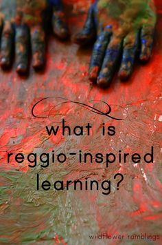 This is a blog by a teacher/mom who is exploring Montessori and Reggio practices. She has some nice definitions of this work and how to connect it to our daily practices at home or in our classrooms.