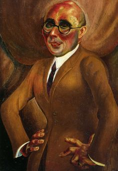 1923 Otto Dix Portrait du joailler Karl Krall