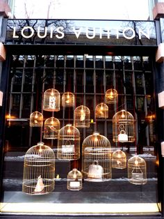 ♂ Commercial design Retail visual merchandising best use of birdcages @Angela Gray Gray Gray Gray Gray Gray Bertasson Vuitton #LV