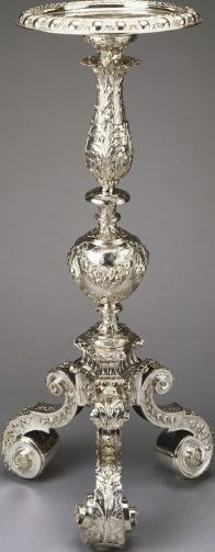 Pair of silver stands | Royal Collection Trust - Charles II, King of Great Britain (1630-85), when King of Great Britain de facto (1660-85)
