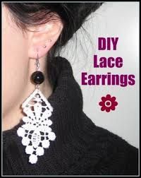 Learn How To Make Lace Earrings - Fashion - Nairaland