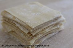 Wonton Wrapper | 200g all-purpose flour, 2 eggs (weight about 55g with shell each)