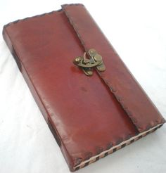 Renaissance Medieval Europe Handmade Leather Journal Diary Notebook Sketchbook Book Handmade Paper with Cast Brass Lock on Etsy, $9.00