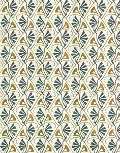 Illustration: Bernhard Wenig. Textile design, c1901.  textileblog.blogspot.com