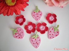 crochet berries.  These would be great as appliques on all kinds of things - www.AlpacaDirect.com