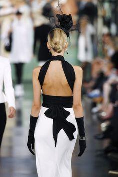 Black & white classic dress / biało - czarna klasyczna sukienka