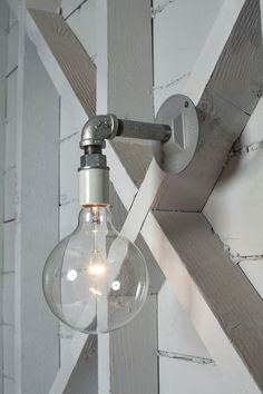 Industrial Wall Sconce Light Bare Bulb Pipe Lamp by IndLights