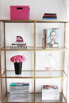 Meagan Ward's Girly-Chic Home Office {Office Tour} | SAYEH PEZESHKI