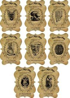 ... , Jars Labels, Halloween Labl,