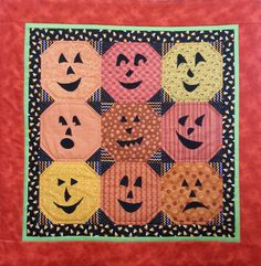 Punkin Head 9 Patch quilt kit at Charlotte's Sew Natural