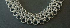 Japanese Lace Chain Maille Collar by BurkleJewelryBox on Etsy, $185.00